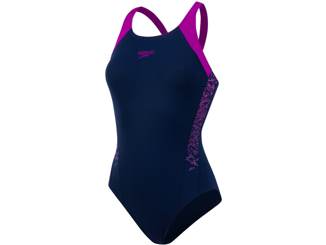 speedo Boom Splice Muscleback Swimsuit Damen navy 34/diva